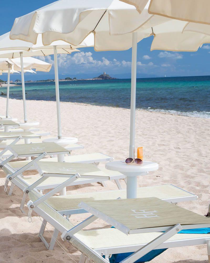 Spiaggia privata Hotel Mare Pineta